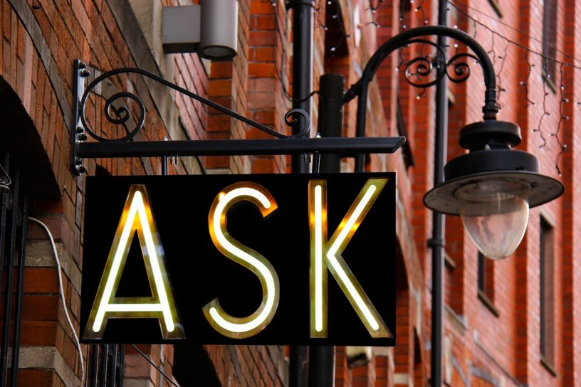 ask advice not fund